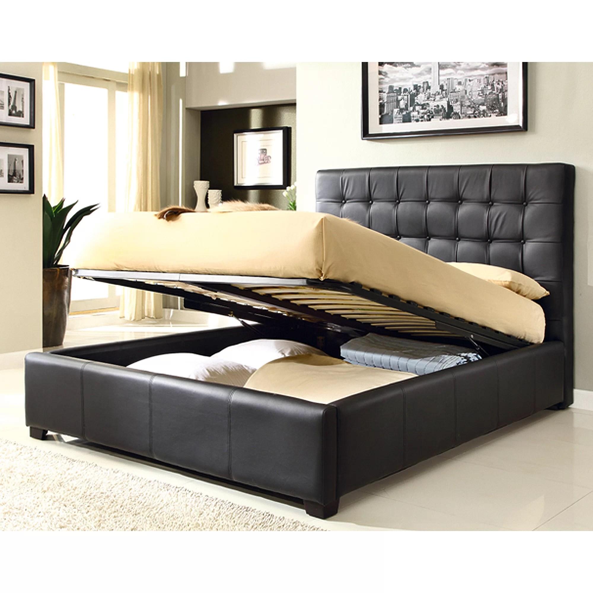 At Home Usa Athens Upholstered Storage Platform Bed
