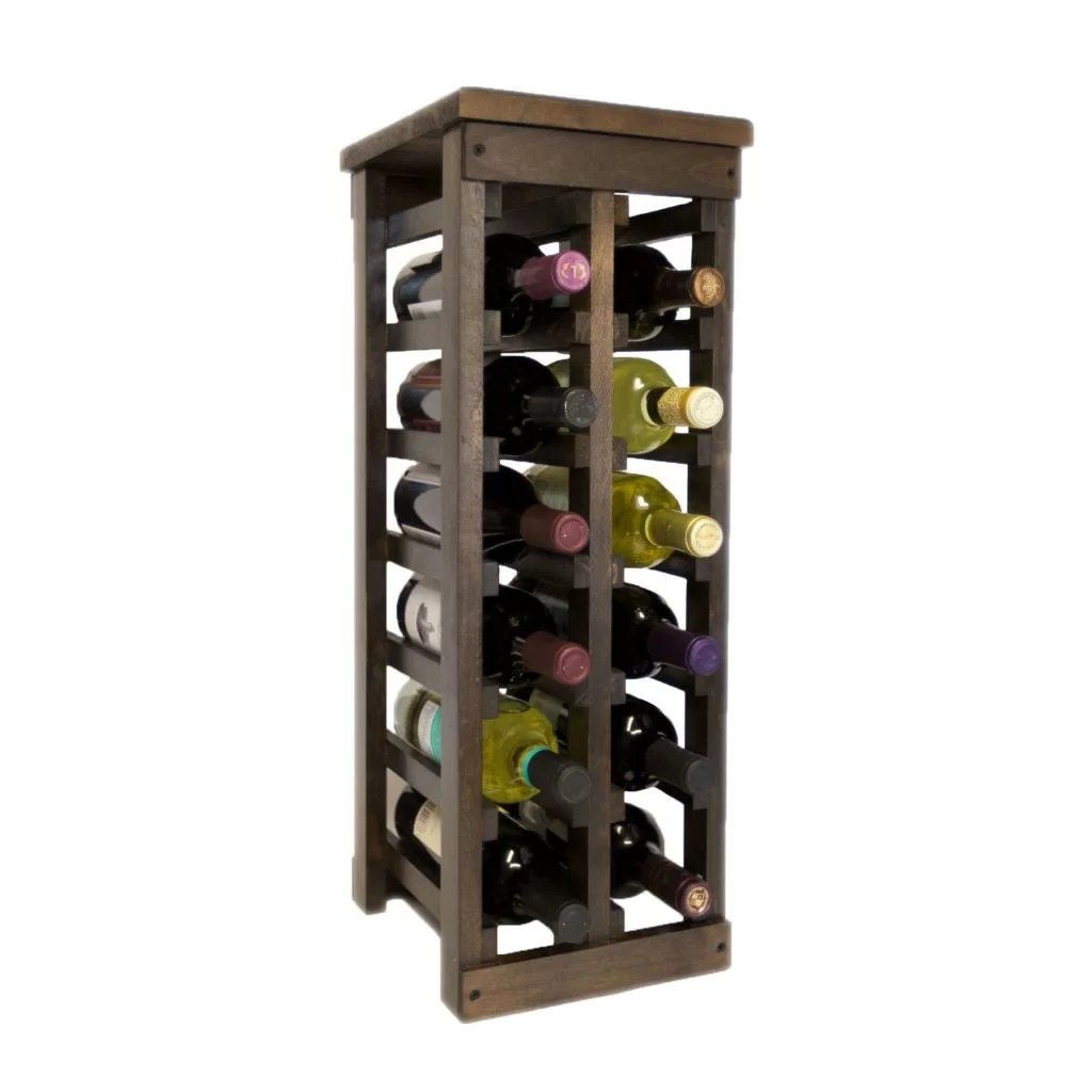 In Floor Wine Storage El Mar 12 Bottle Floor Wine Rack And Reviews Wayfair