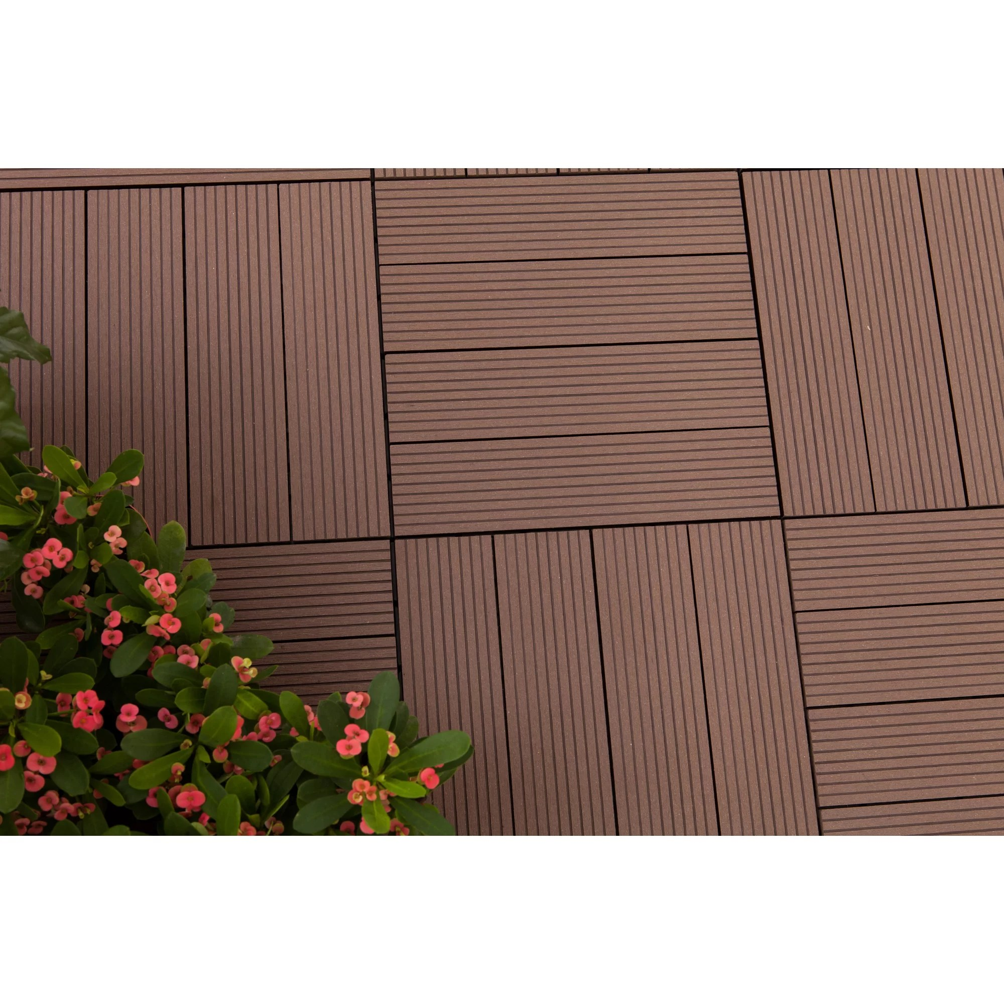Composite Deck Tiles Vifah Composite Ipe 12 Quot X 12 Quot Deck Tiles Wayfair