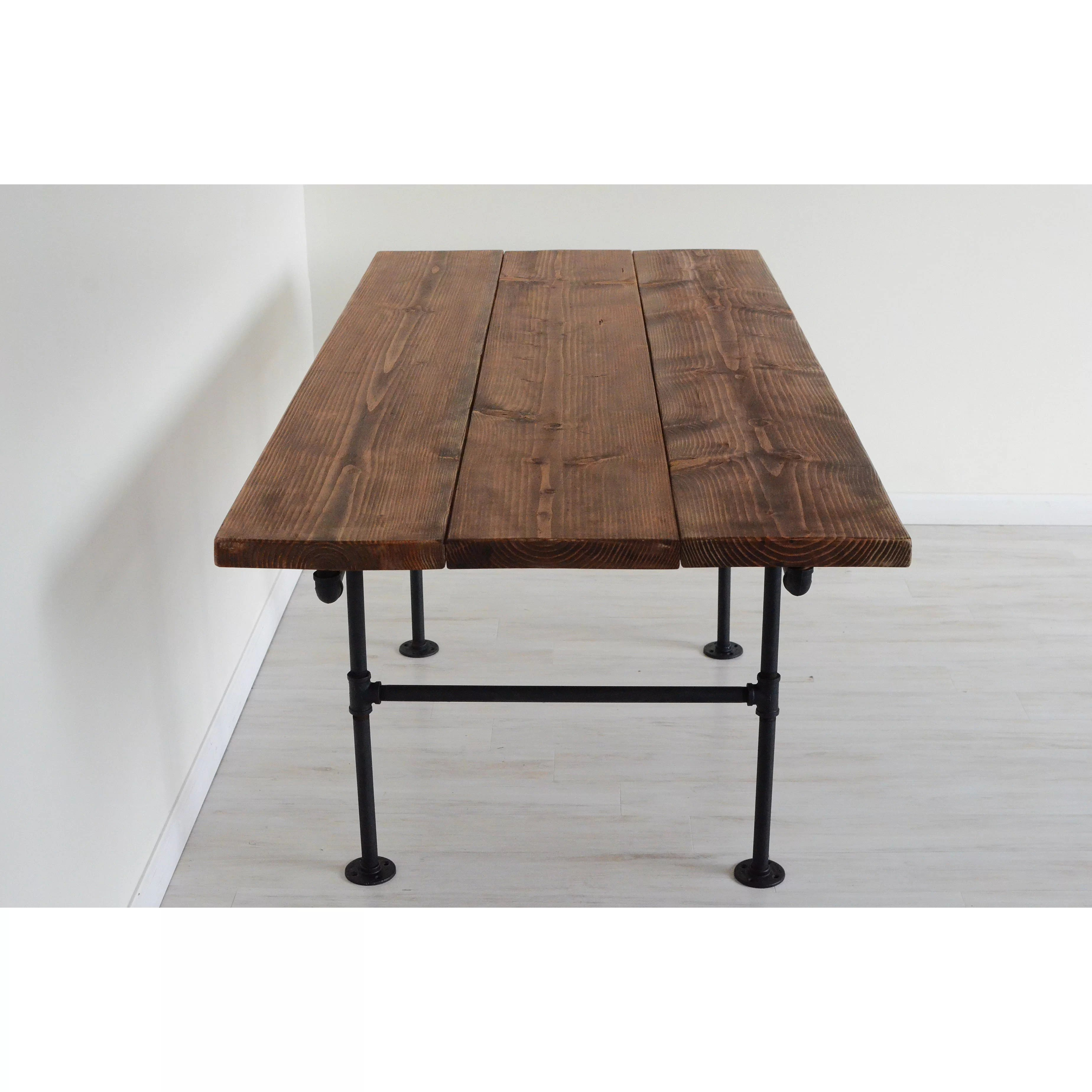 6 Ft Square Dining Table Brandtworksllc American Iron Pipe 6 Foot Dining Table