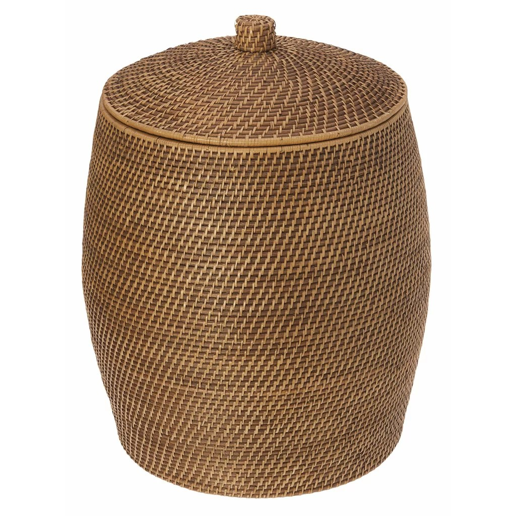 Hamper With Liner Kouboo Beehive Rattan Laundry Hamper With Cotton Liner