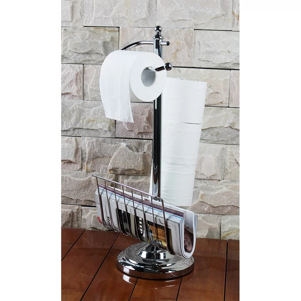 Hopeful Enterprise Toilet Paper Holder with Magazine Rack
