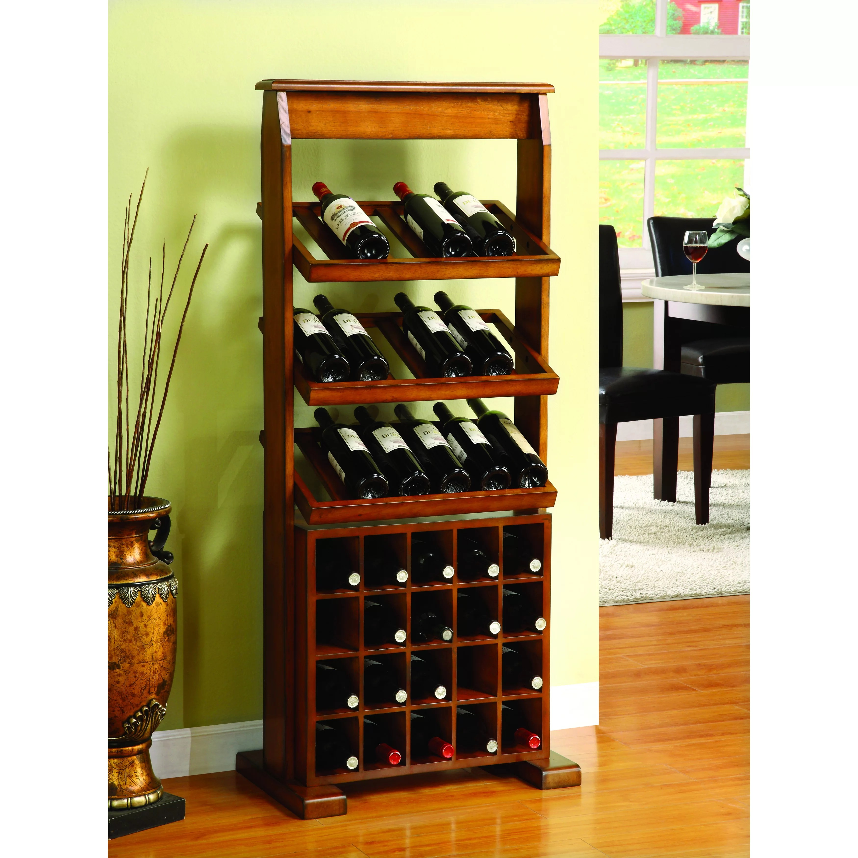 In Floor Wine Storage Darby Home Co Medeley 38 Bottle Floor Wine Rack And Reviews