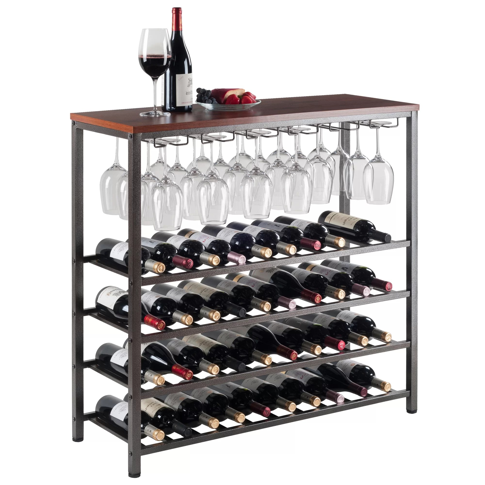 In Floor Wine Storage Darby Home Co Gillam 40 Bottle Floor Wine Rack And Reviews
