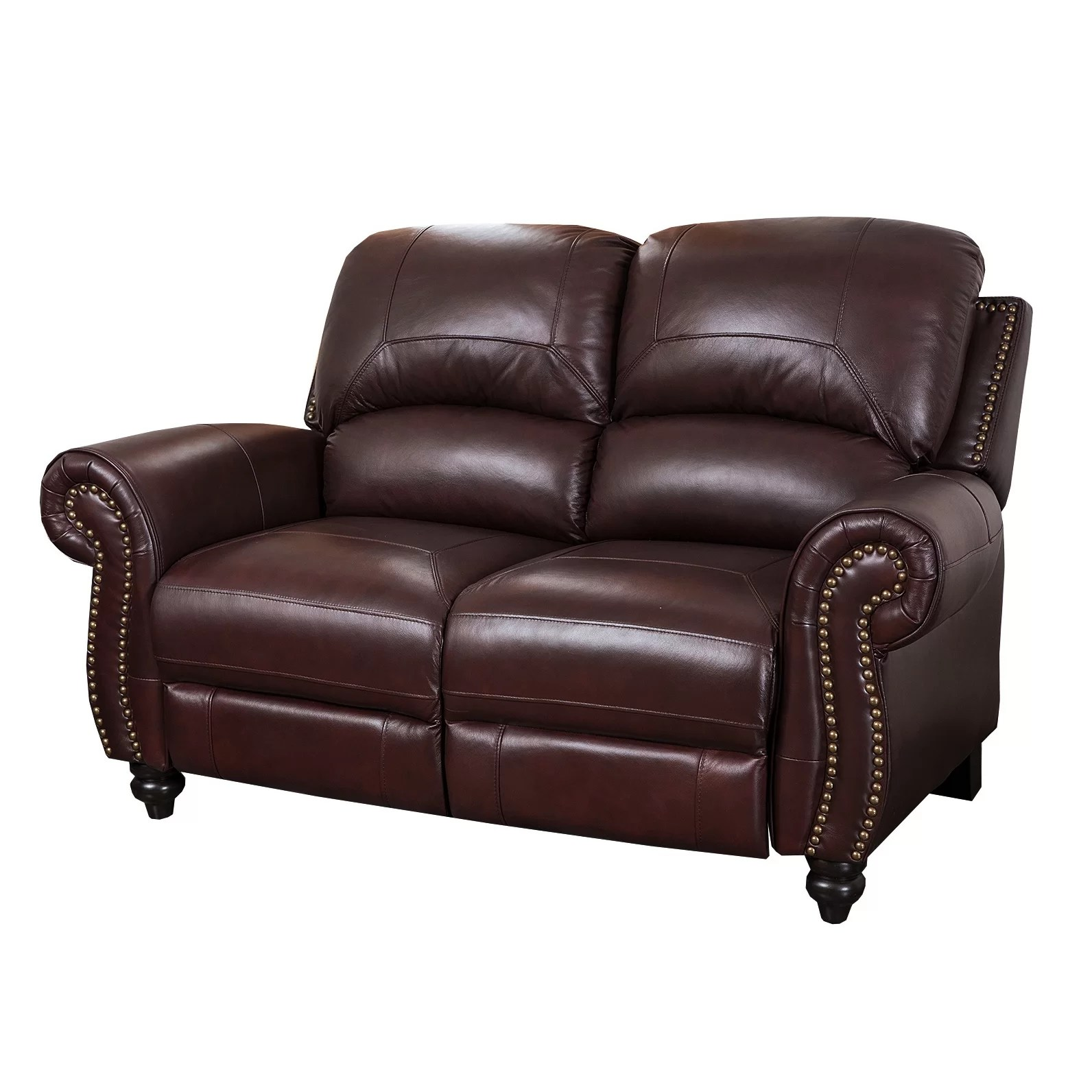 Leather Loveseat Darby Home Co Kahle Leather Reclining Loveseat And Reviews
