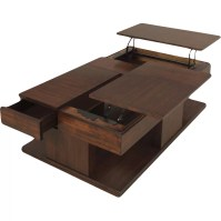 Darby Home Co Dail Coffee Table with Double Lift-Top ...