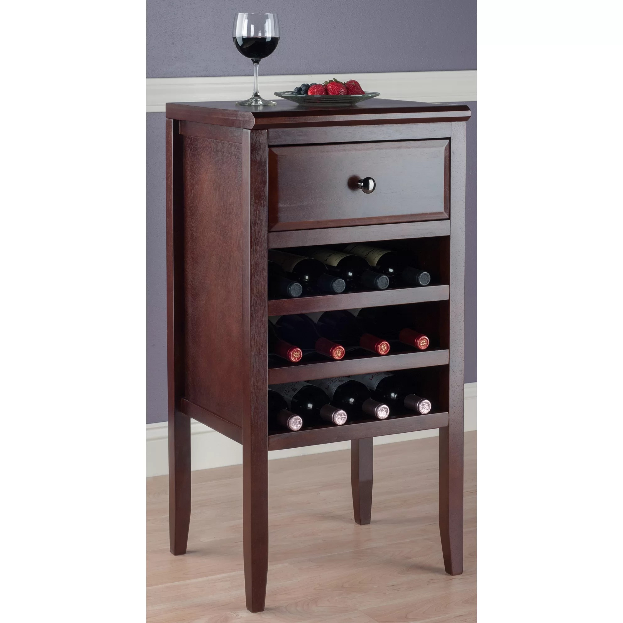 In Floor Wine Storage Darby Home Co Crescent 12 Bottle Floor Wine Cabinet