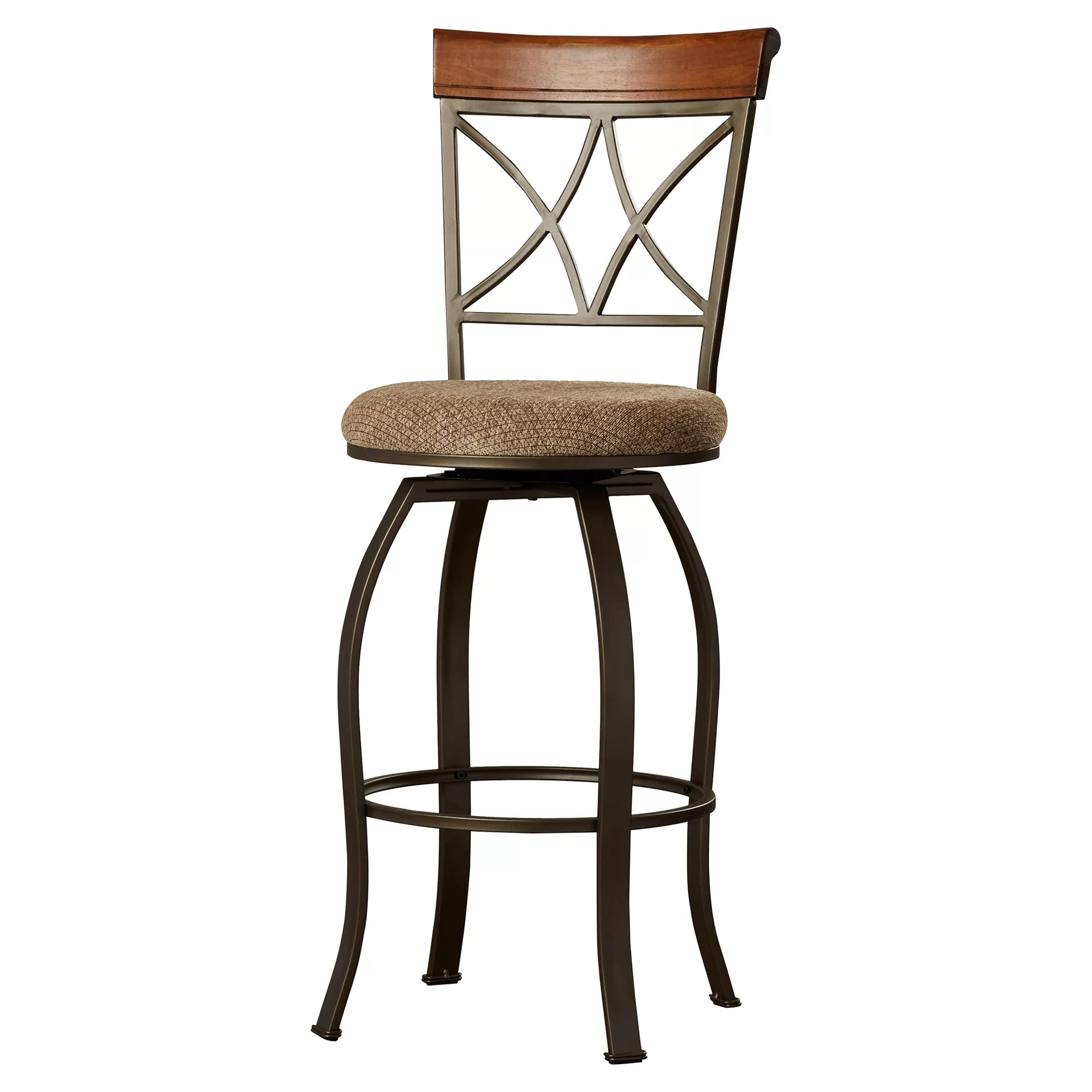 Bar And Stools For Home Charlton Home Follmer 29 Quot Swivel Bar Stool With Cushion