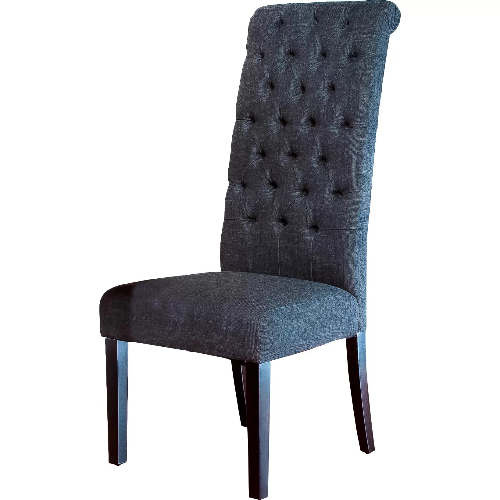 Upholstered Chairs For Dining Room Charlton Home Estbury Tall Tufted Upholstered Dining Chair