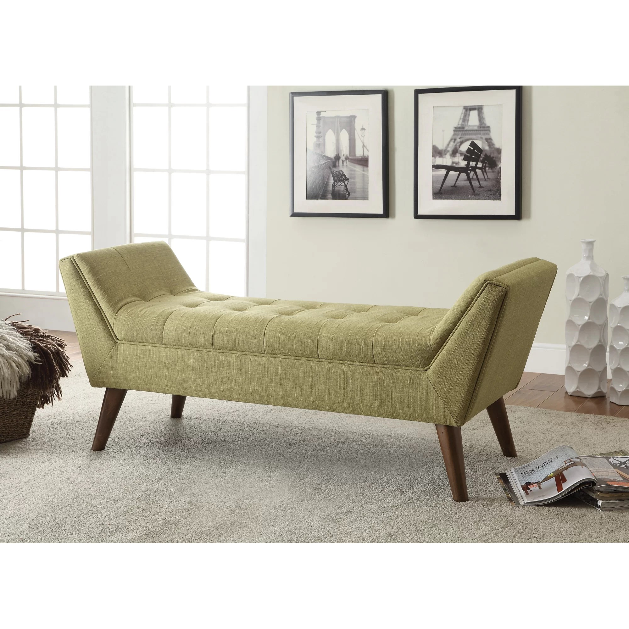 Bedroom Bench Pictures Langley Street Serena Upholstered Bedroom Bench And Reviews