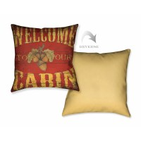 LauralHome Lodge Welcome Throw Pillow | Wayfair