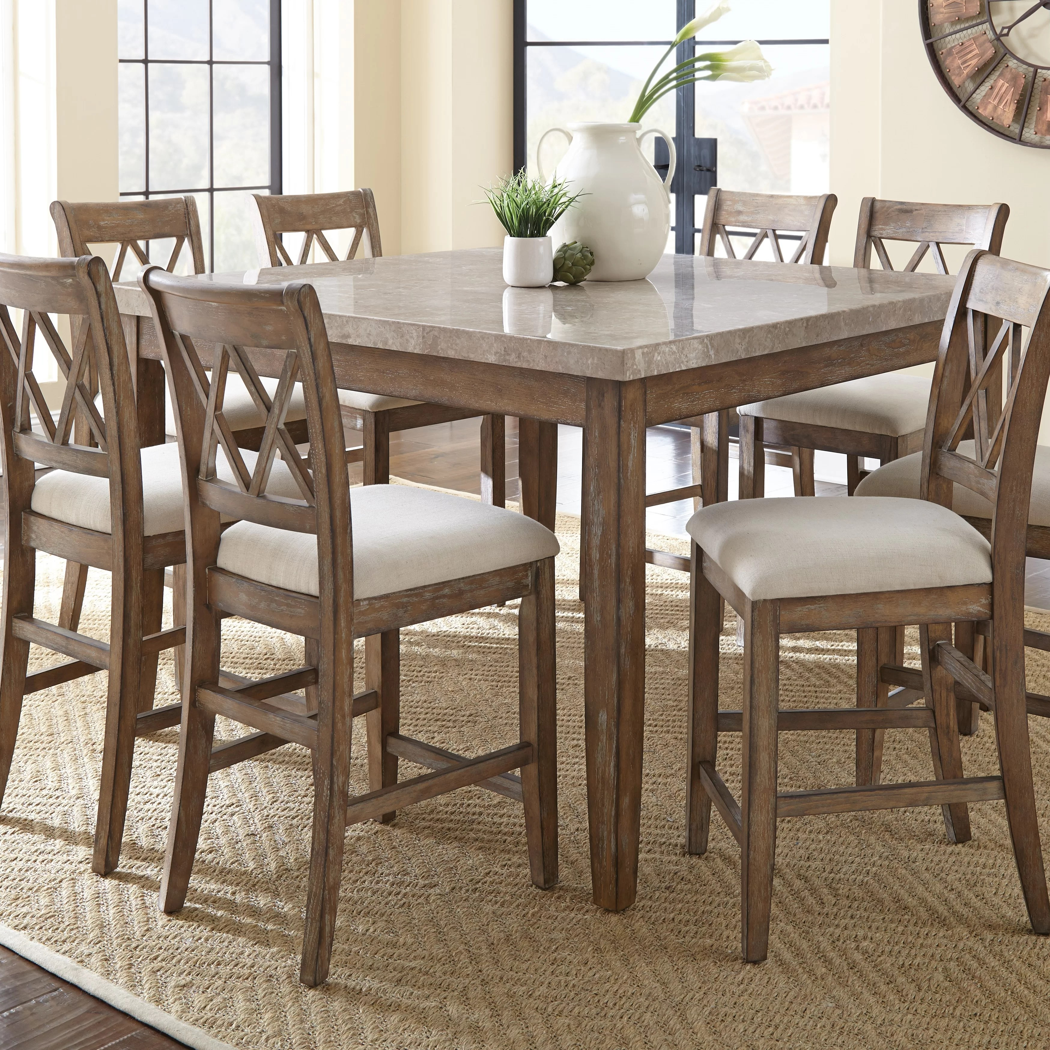 9 piece kitchen dining room sets c a~ counter height kitchen table Lewisville 9 Piece Counter Height Dining Set