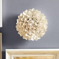 "One Allium Way Large 13"" Flower Wall Dcor & Reviews   Wayfair"