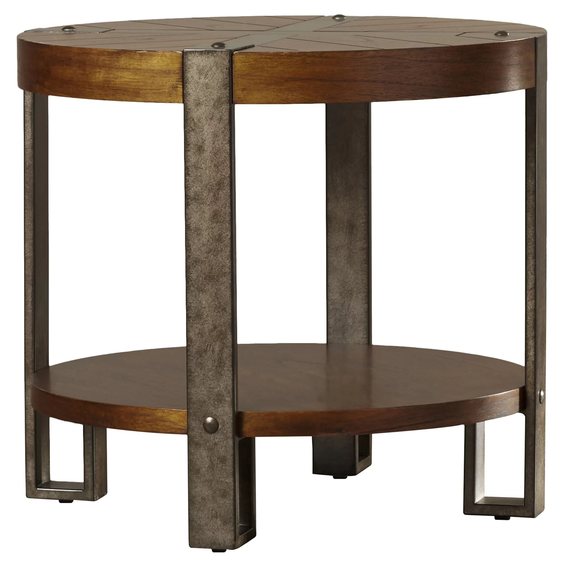 Circular End Tables Loon Peak Gallatin Round End Table And Reviews Wayfair