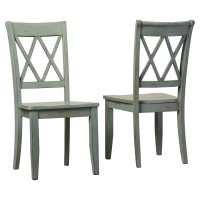 Loon Peak Castle Pines Side Chair in Antique Green ...