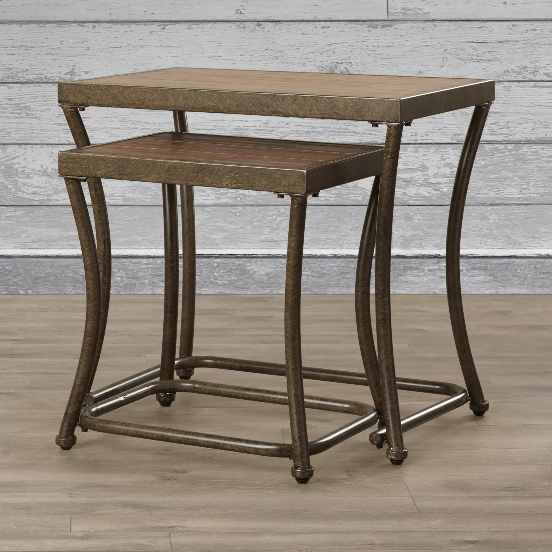 Stacking End Tables Loon Peak Bendeleben 2 Piece Nesting End Table Set
