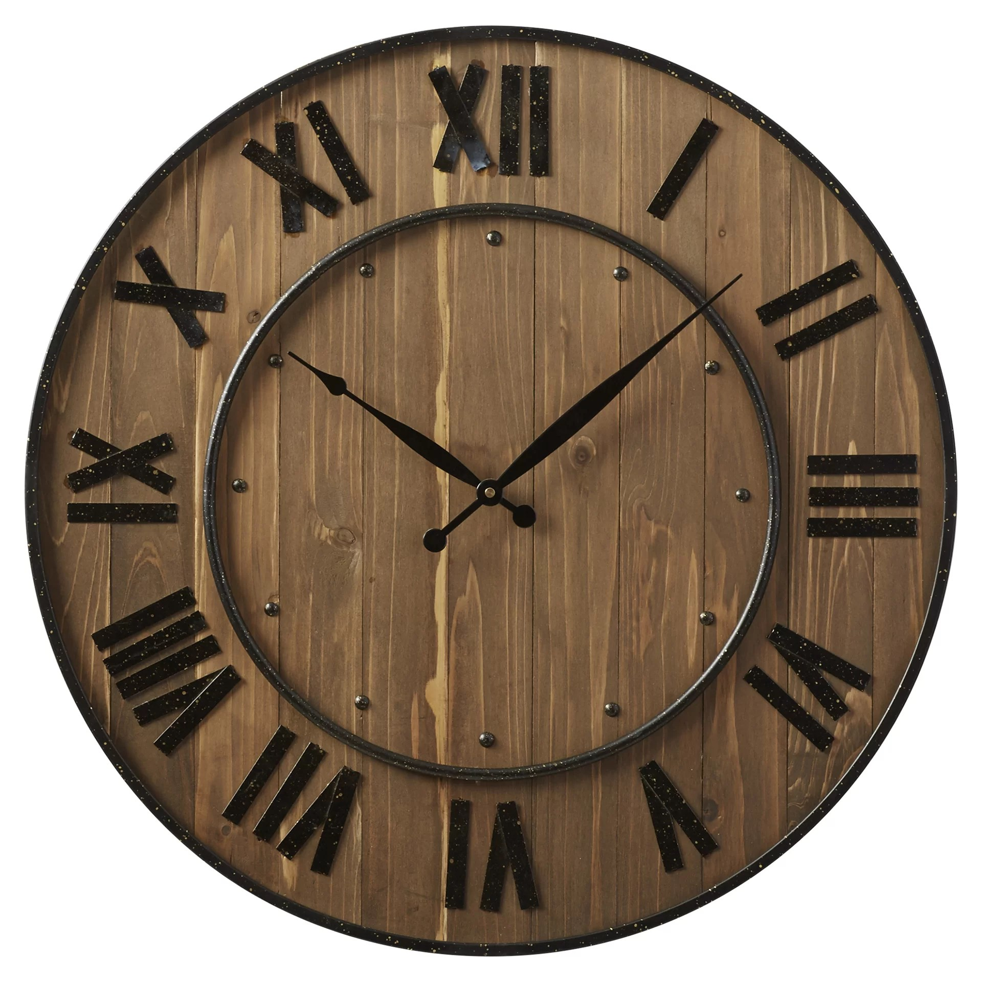 Design Wall Clock Trent Austin Design Northrop Wine Barrel 24 Quot Wall Clock