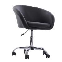 HomCom Swivel Tub Chair with Wheels & Reviews | Wayfair
