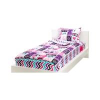 Zipit Bedding Rocker Princess 3 Piece Full Comforter Set