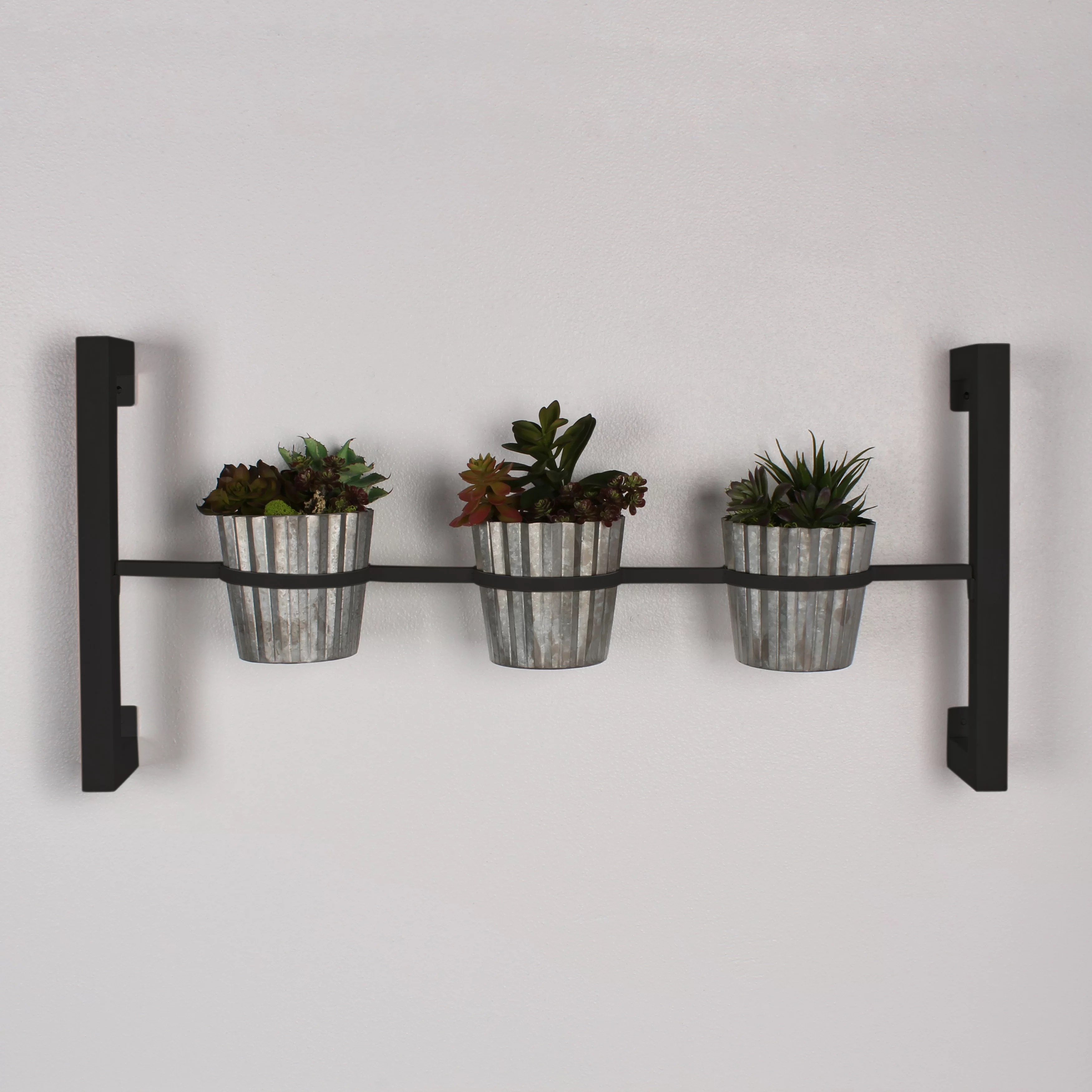 Outdoor Wall Hanging Planters Kate And Laurel Groves 4 Piece Rectangular Wall Mounted