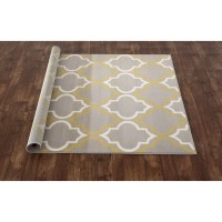 World Rug Gallery Newport Gray / Yellow Area Rug & Reviews ...