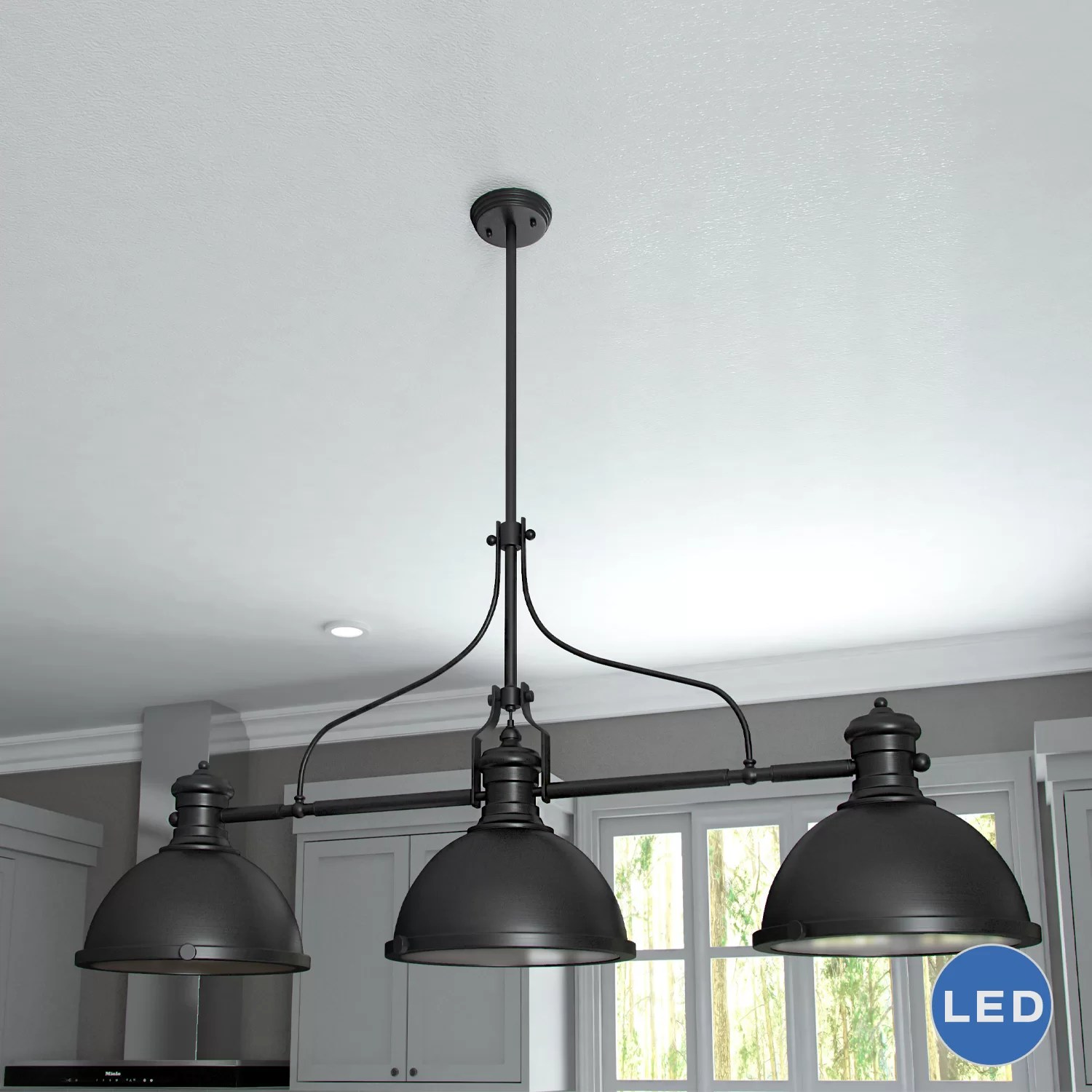 Pendant Island Lights Vonnlighting Dorado 3 Light Kitchen Island Pendant