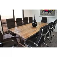 SolisPatio 11 Piece Ligna 8' Rectangular Conference Table ...