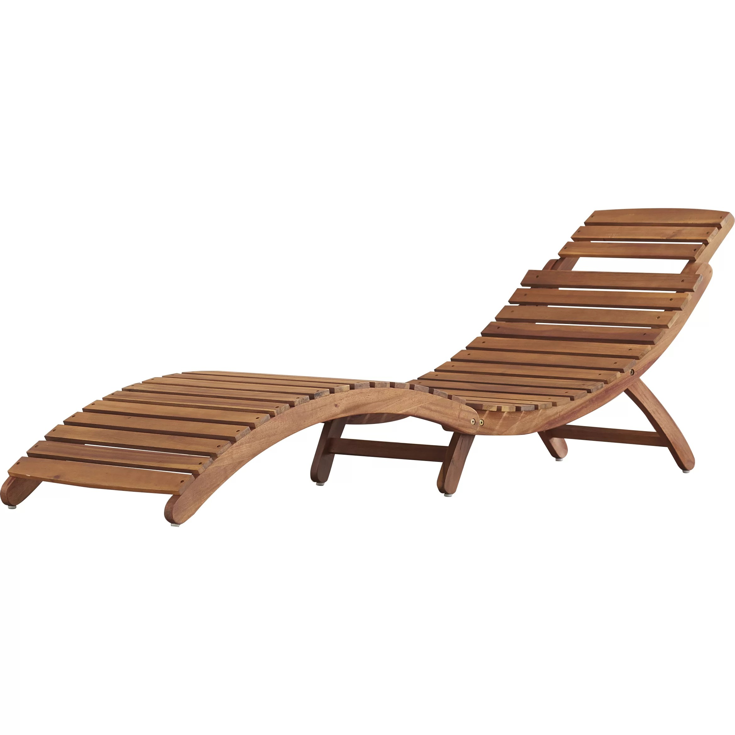 Outdoor Chaise Lounge Bay Isle Home Philodendron Wood Outdoor Chaise Lounge