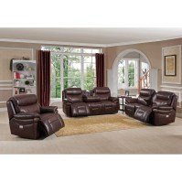 Amax Sanford 3 Piece Leather Power Reclining Living Room ...