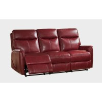 Amax Napa Top Grain Leather Lay Flat Reclining Sofa and ...