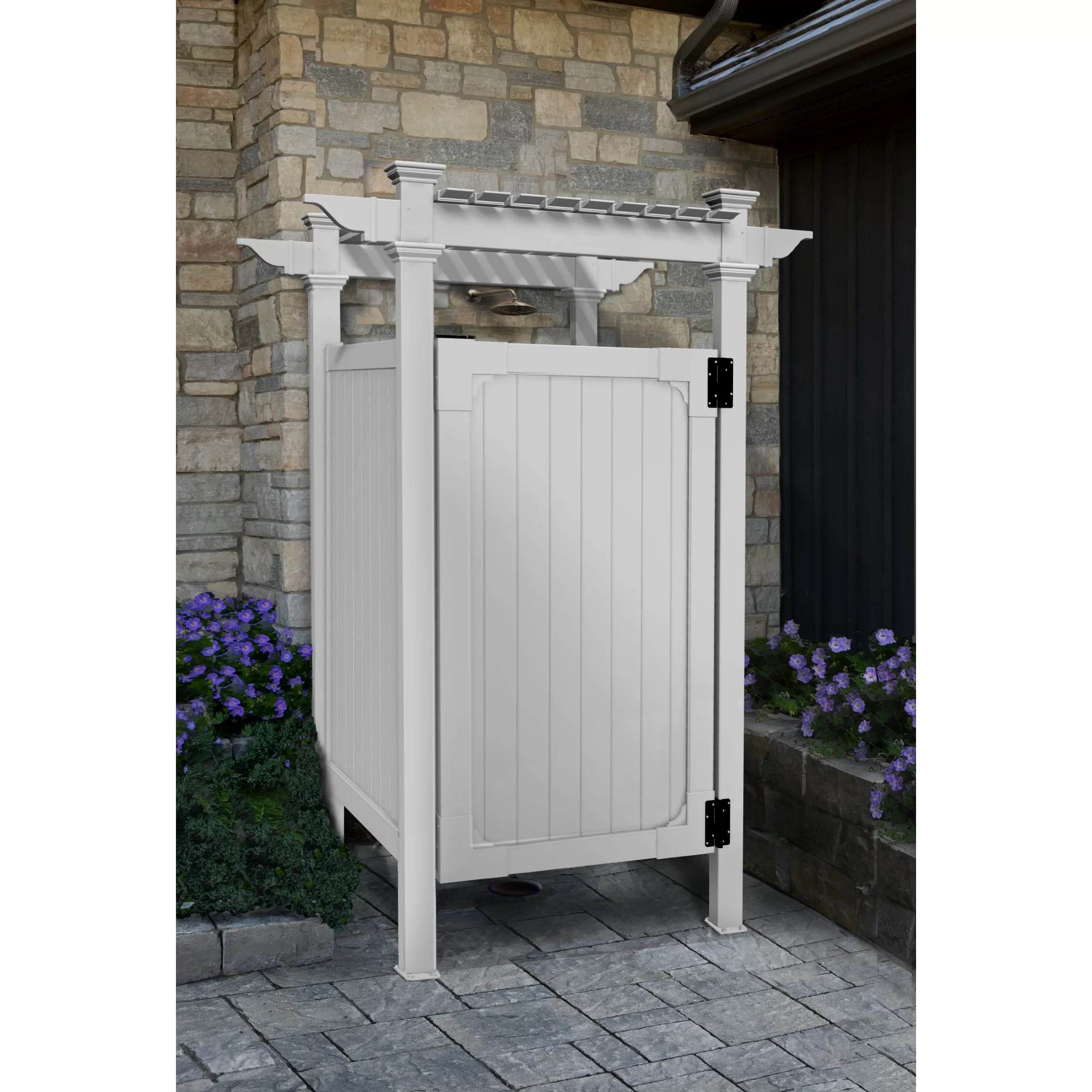 Outdoor Shower Base Ideas Zippity Outdoor Products Hampton Outdoor Shower Enclosure