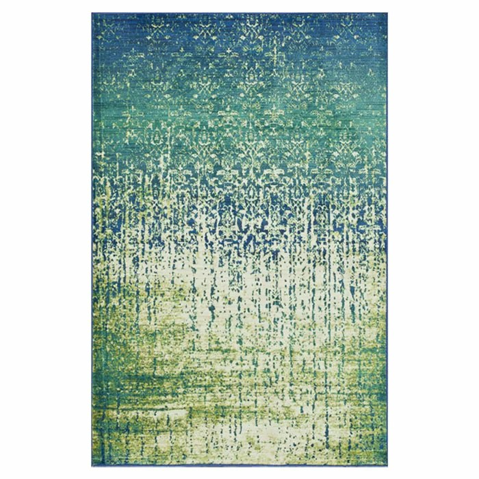 The Conestoga Trading Co Regina Blue Green Area Rug