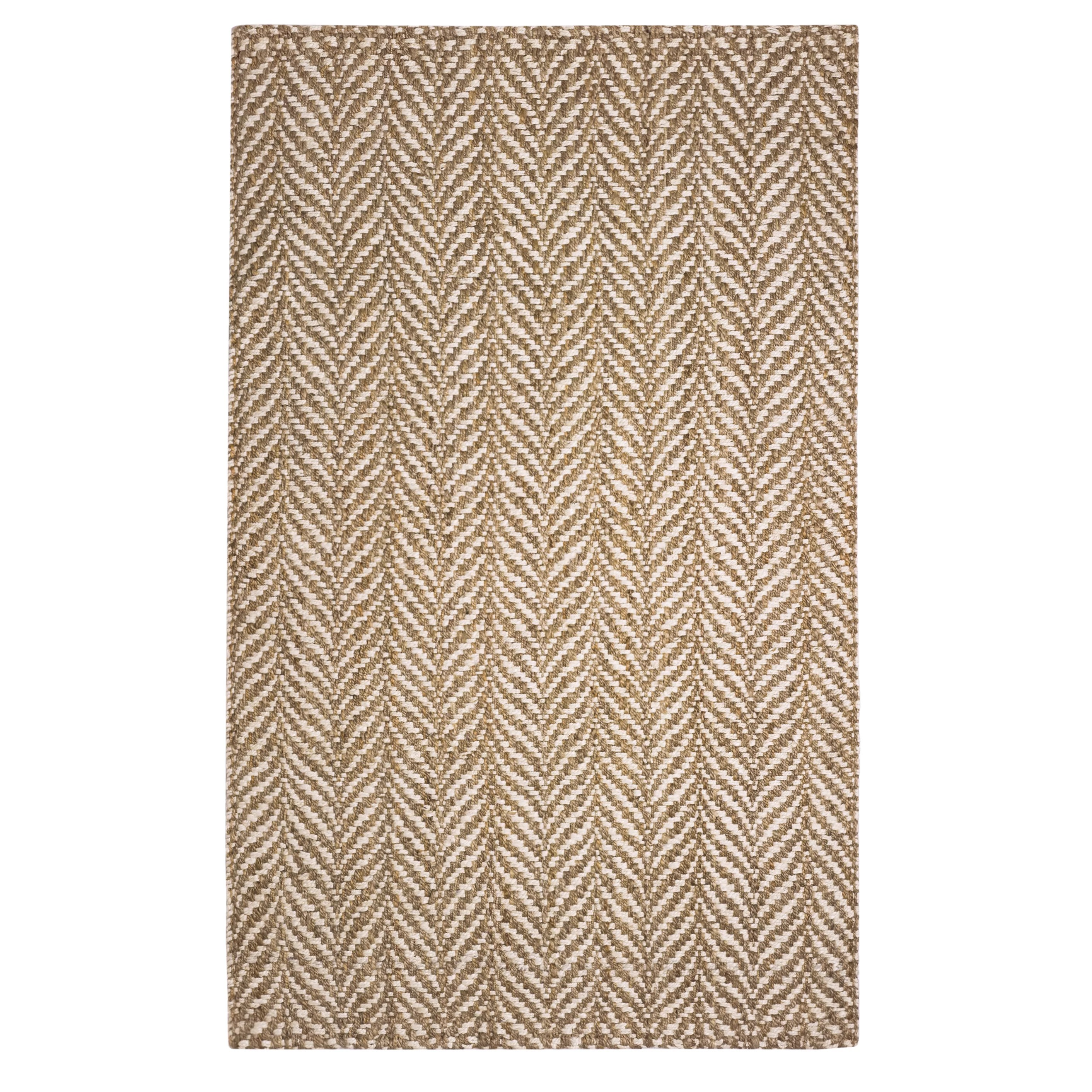 Woven Rugs The Conestoga Trading Co Hines Hand Woven Brown White
