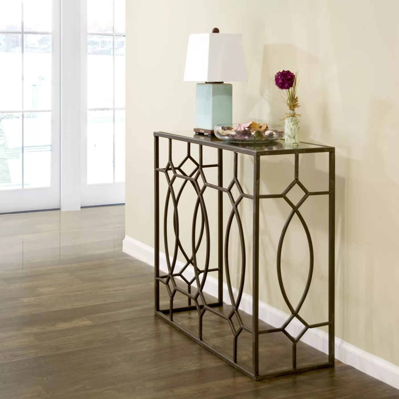 Glamour Home Decor Glamour Home Decor Aaralyn Mirrored Console Table