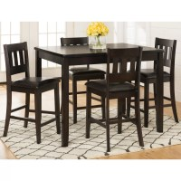 Latitude Run Barney 5 Piece Counter Height Pub Table Set ...