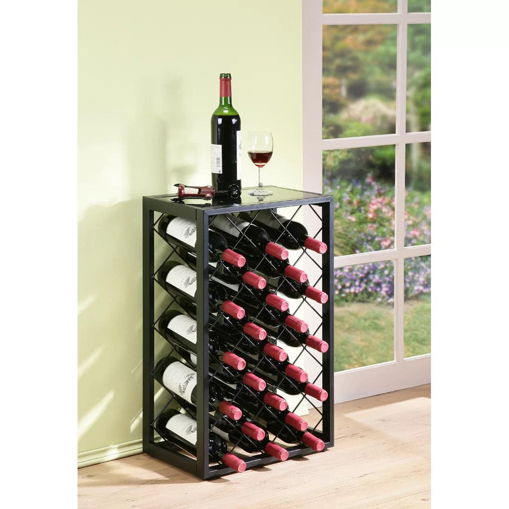 In Floor Wine Storage Mango Steam 23 Bottle Floor Wine Rack And Reviews Wayfair Ca
