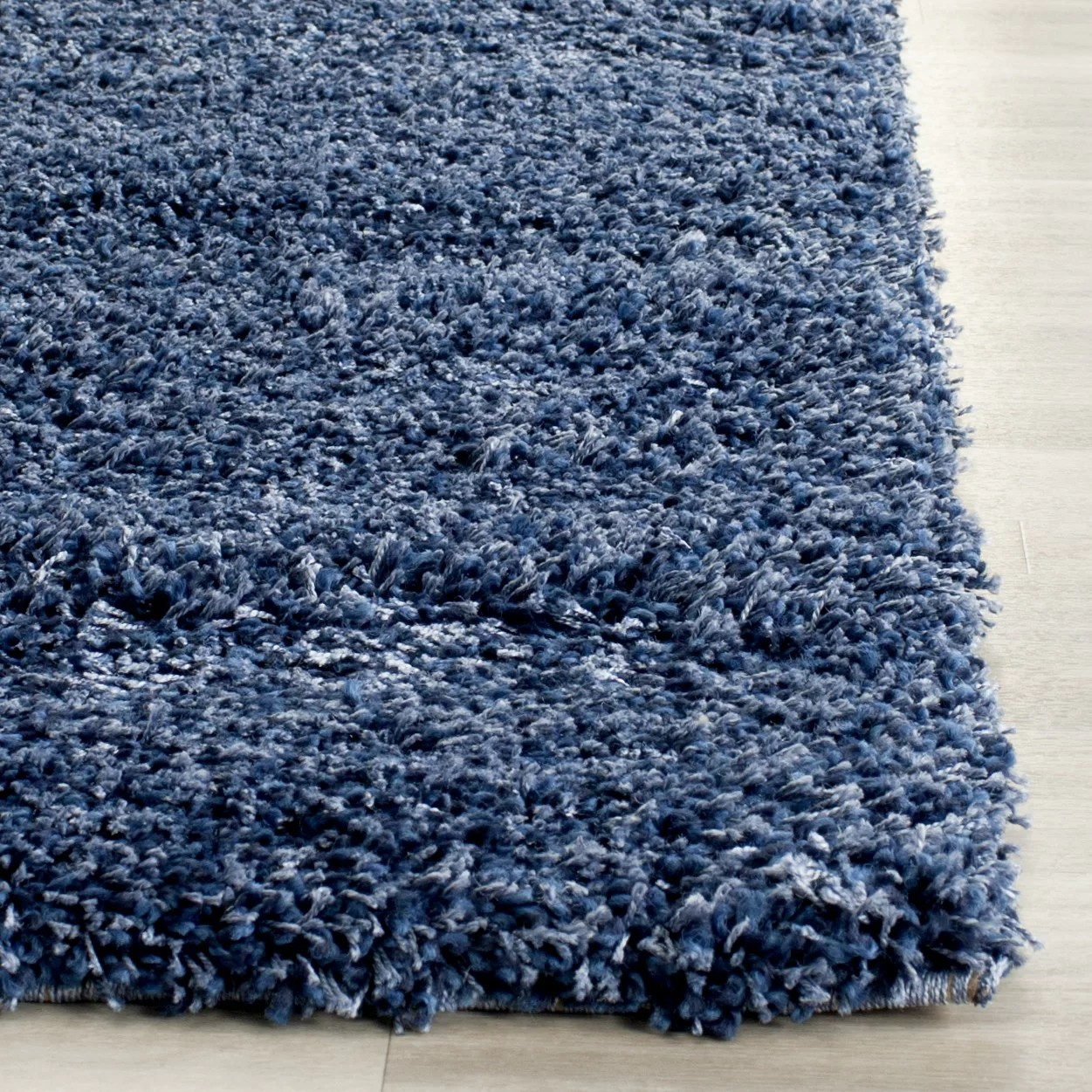 Blue Shag Rug Safavieh Shag Navy Blue Solid Rug And Reviews Wayfair