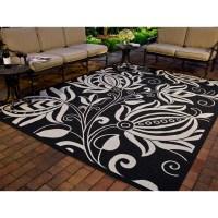 Safavieh Courtyard Black & Tan Indoor/Outdoor Area Rug ...