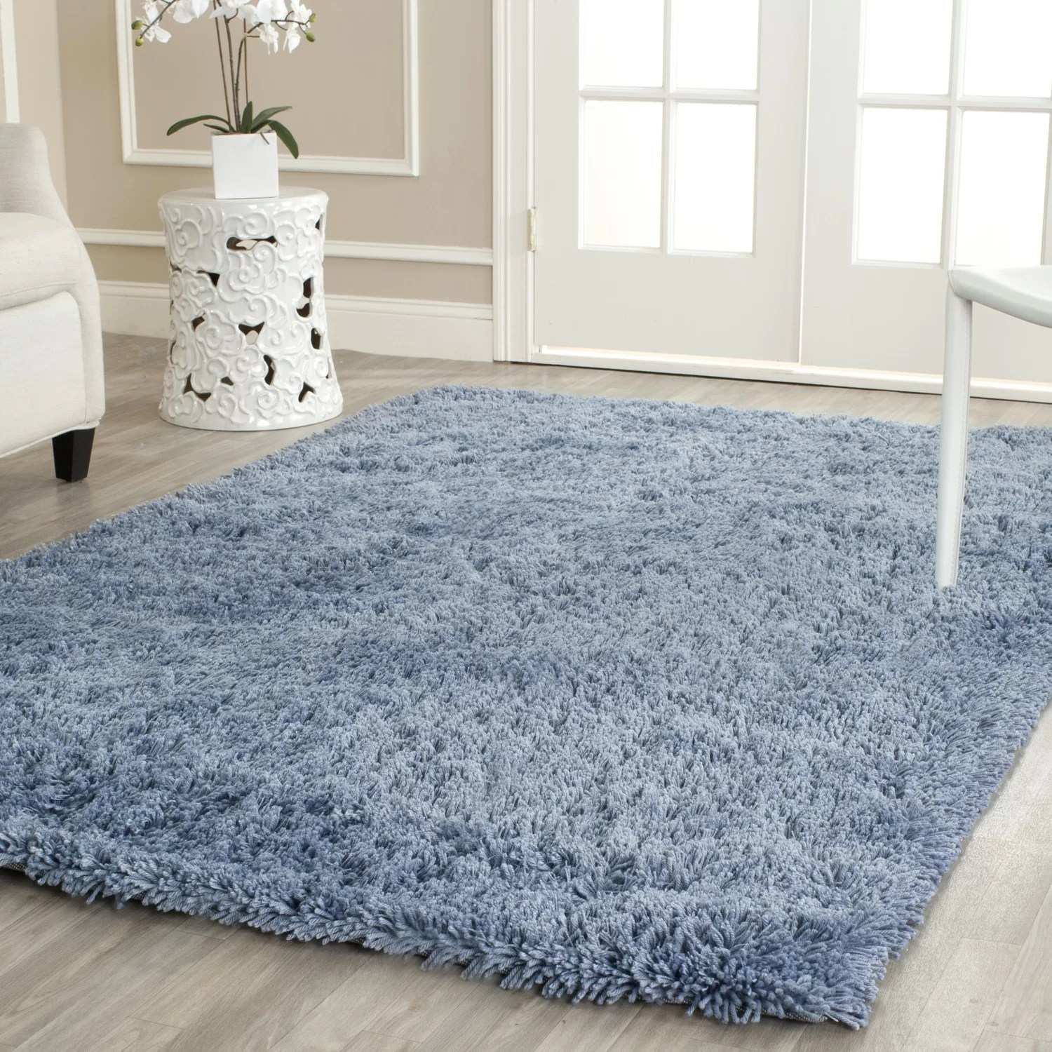 Blue Shag Rug Safavieh Shag Light Blue Area Rug And Reviews Wayfair