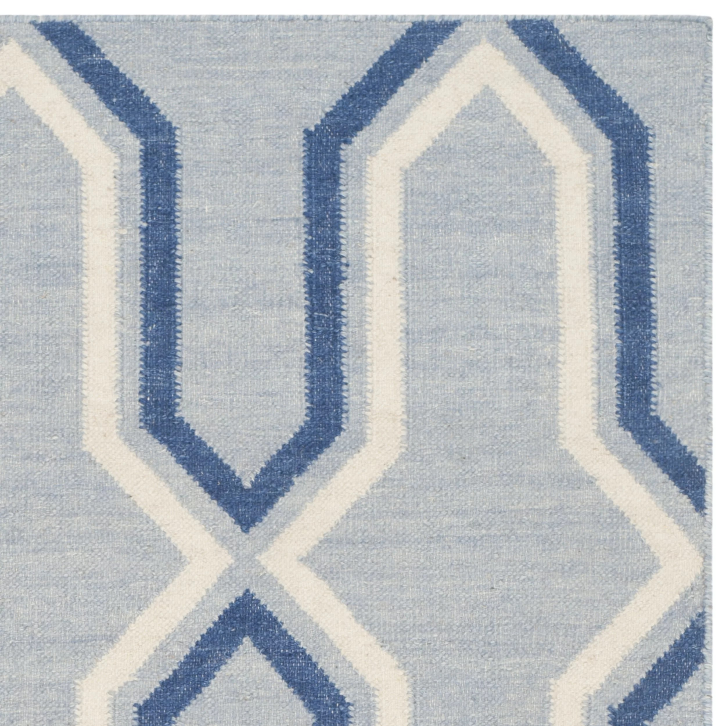 Contemporary Area Rugs Safavieh Dhurries Blue Contemporary Area Rug And Reviews