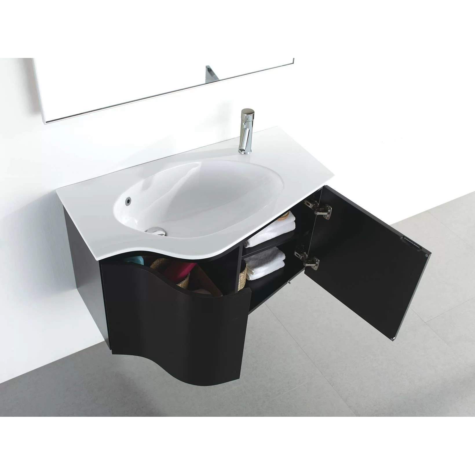 30 Floating Bathroom Vanity Virtu Roselle 35 Quot Single Floating Bathroom Vanity Set With