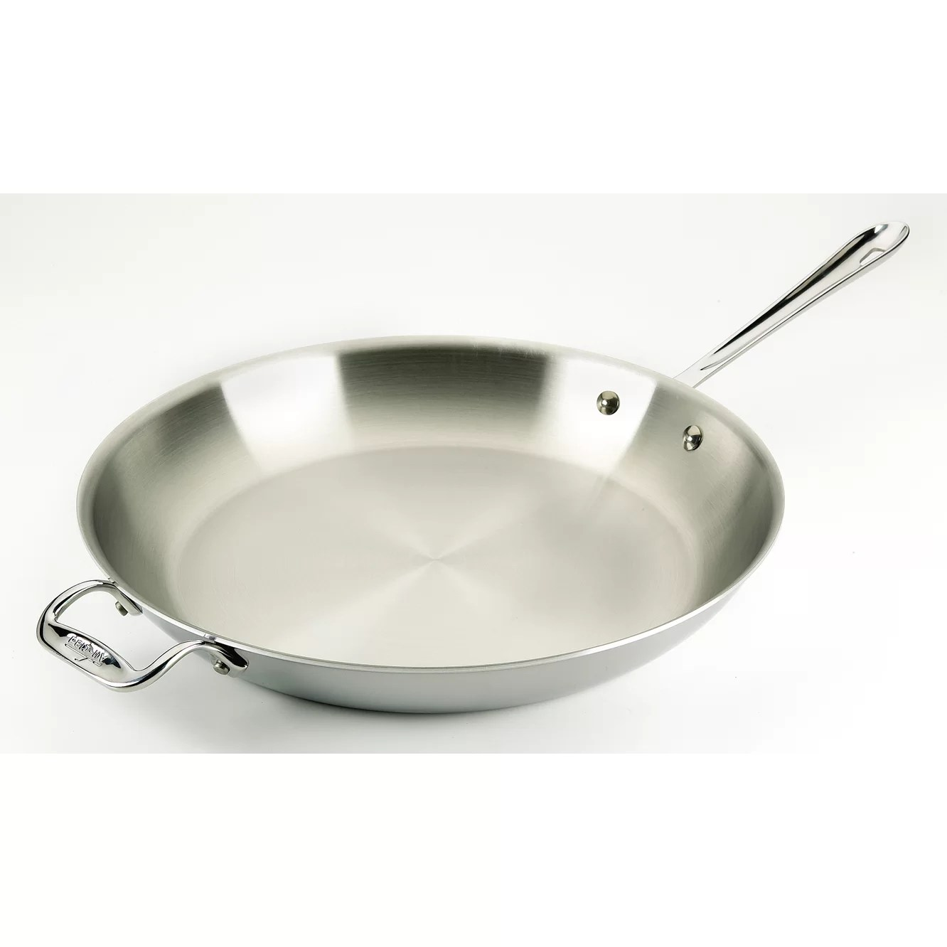 Stainless Steel Frying Pan All Clad Stainless Steel Fry Pan And Reviews Wayfair