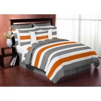 Sweet Jojo Designs Stripe 4 Piece Twin Comforter Set ...