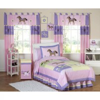 Sweet Jojo Designs Pony 4 Piece Twin Comforter Set | Wayfair