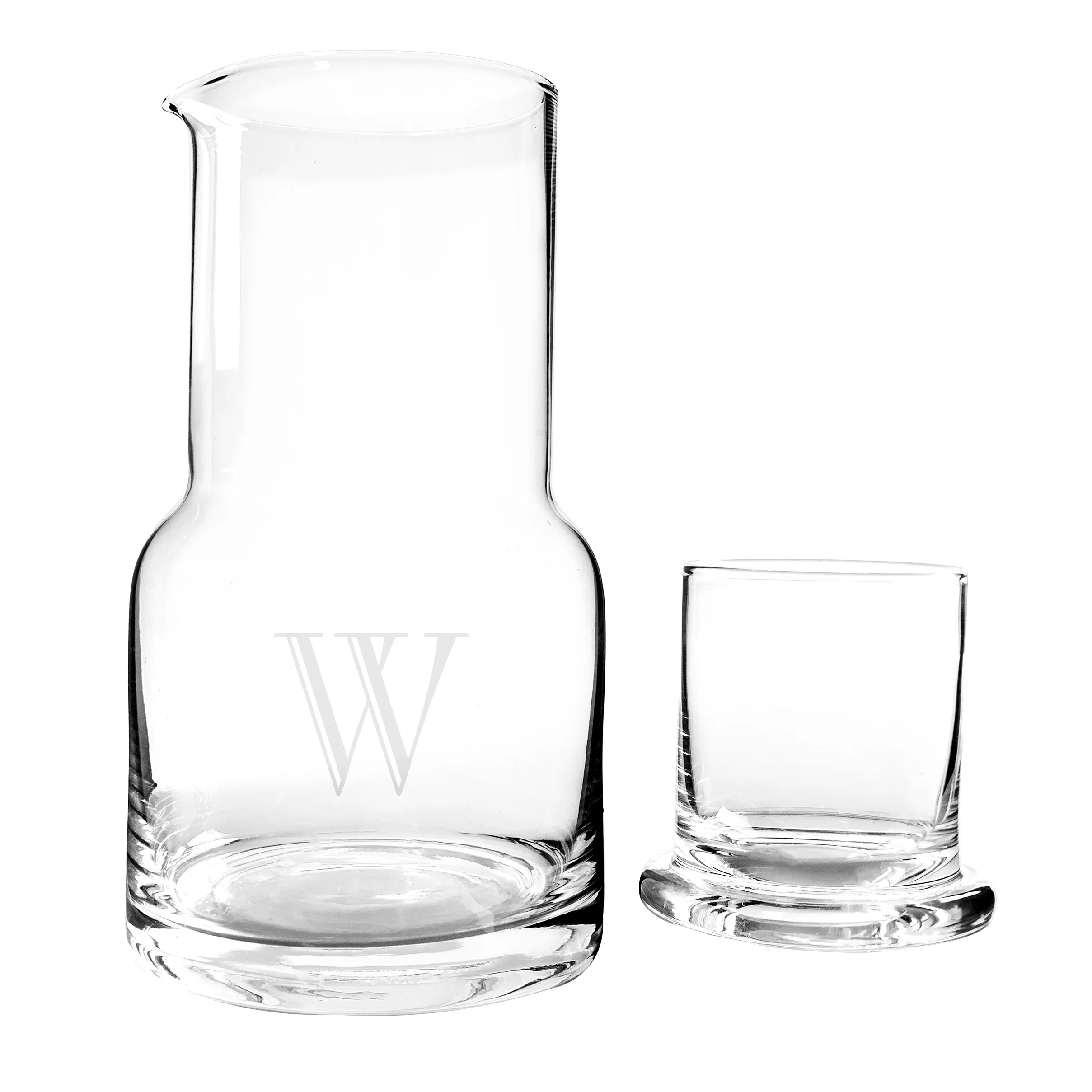 Bedside Water Carafe And Glass Cathys Concepts 2 Piece Personalized Bedside Water Carafe