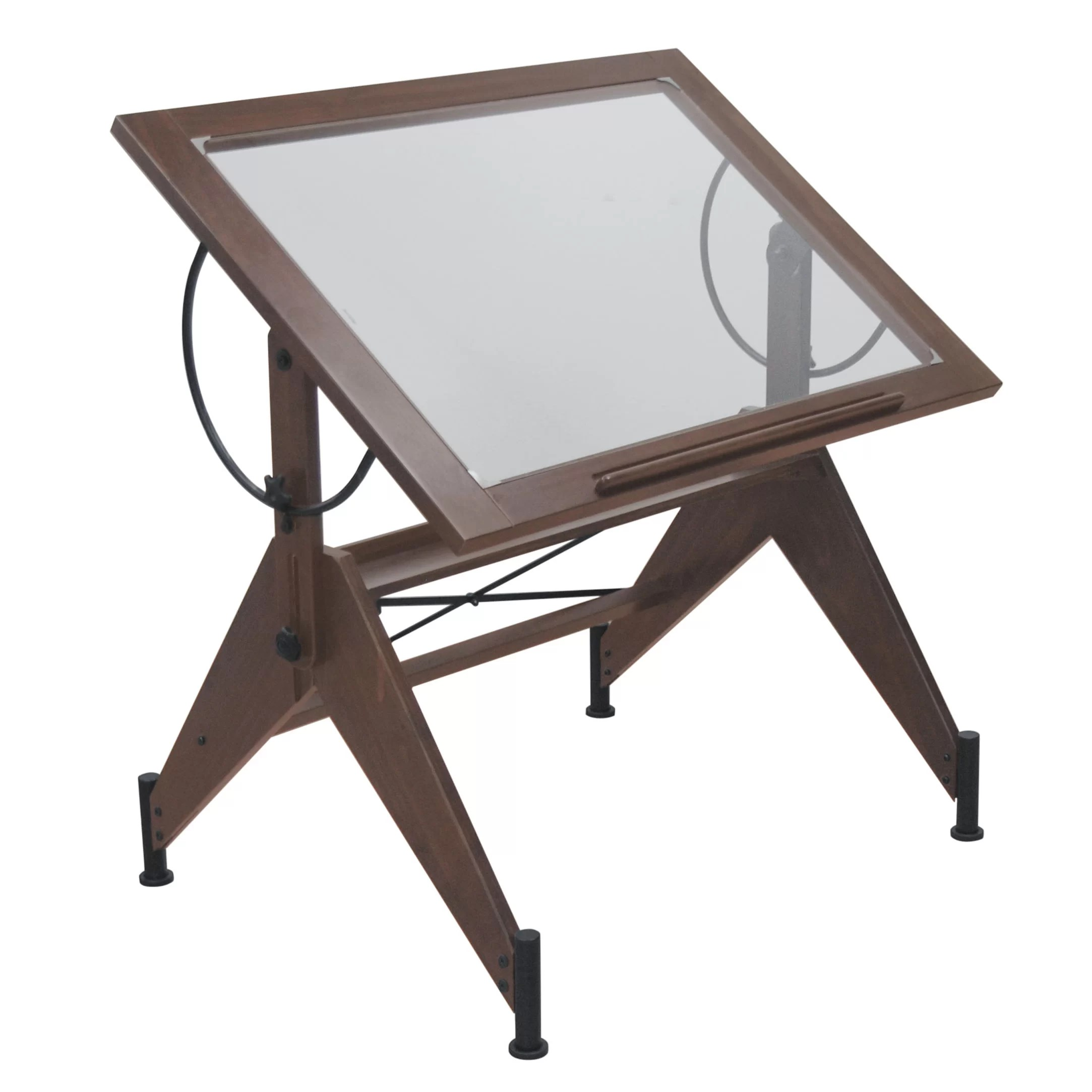 Drafting Table Design Studio Designs Aries Glass Drafting Table And Reviews Wayfair