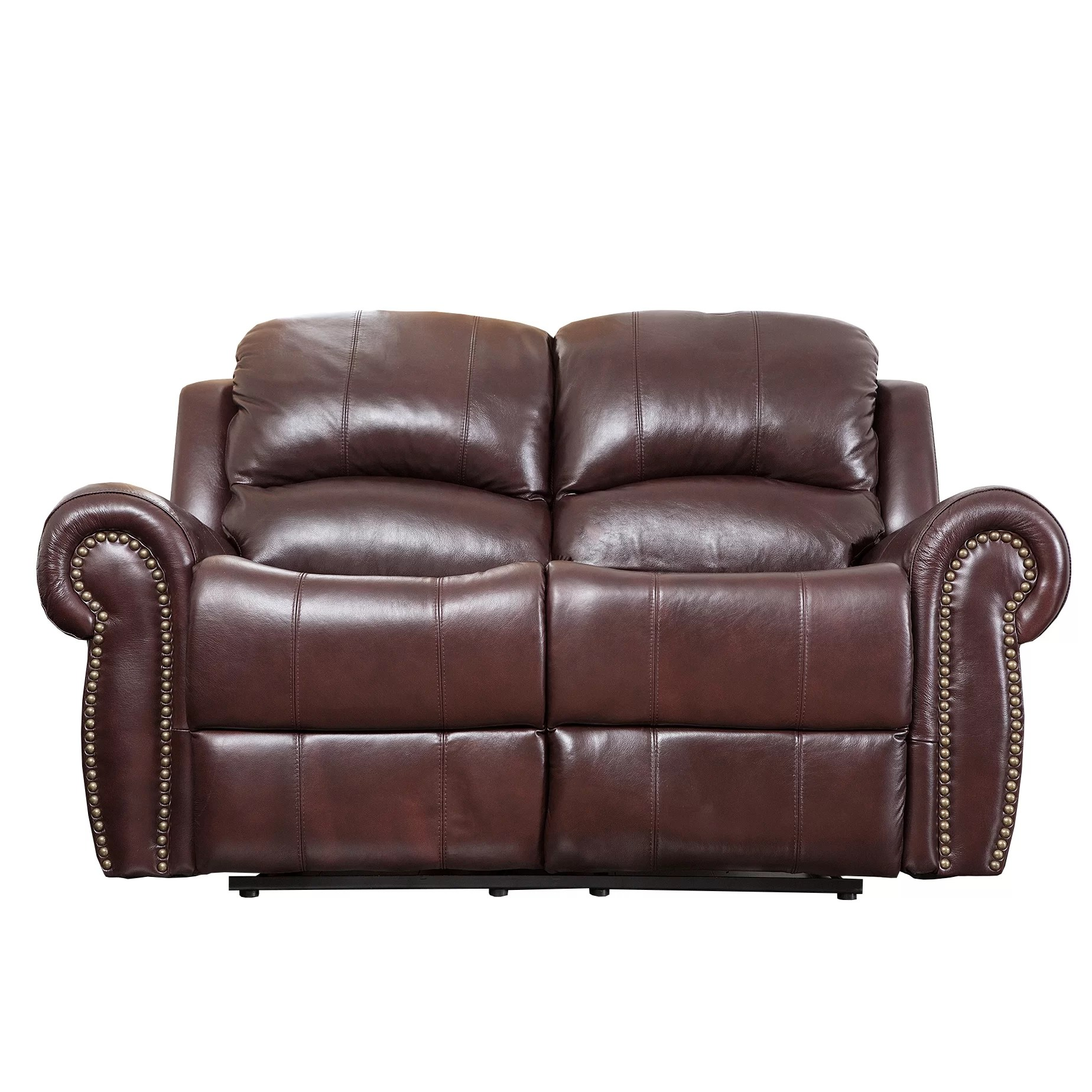 Leather Loveseat Abbyson Living Sedona Leather Reclining Loveseat And Reviews