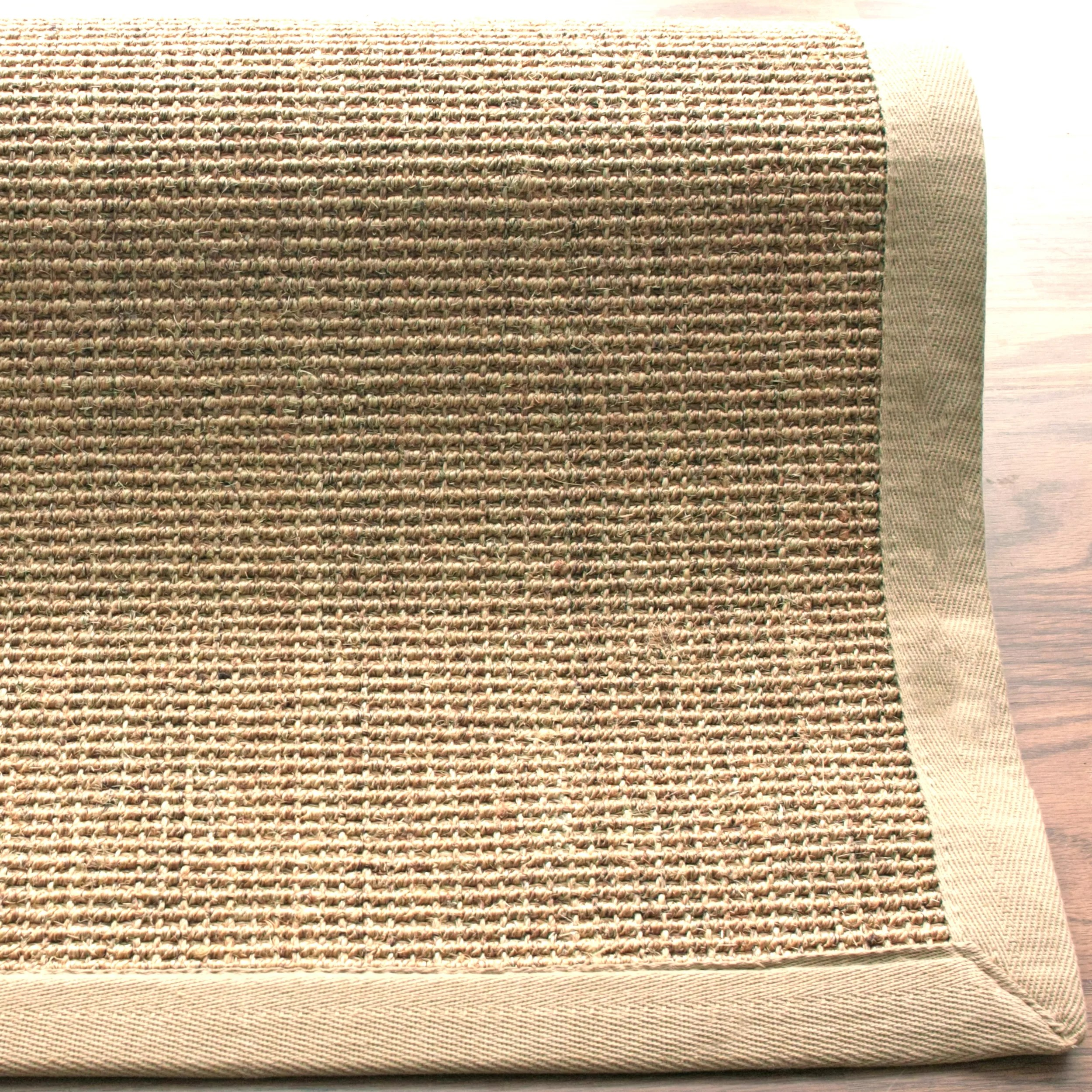 Cisale Nuloom Sisal Sand And Beige Border Area Rug And Reviews Wayfair