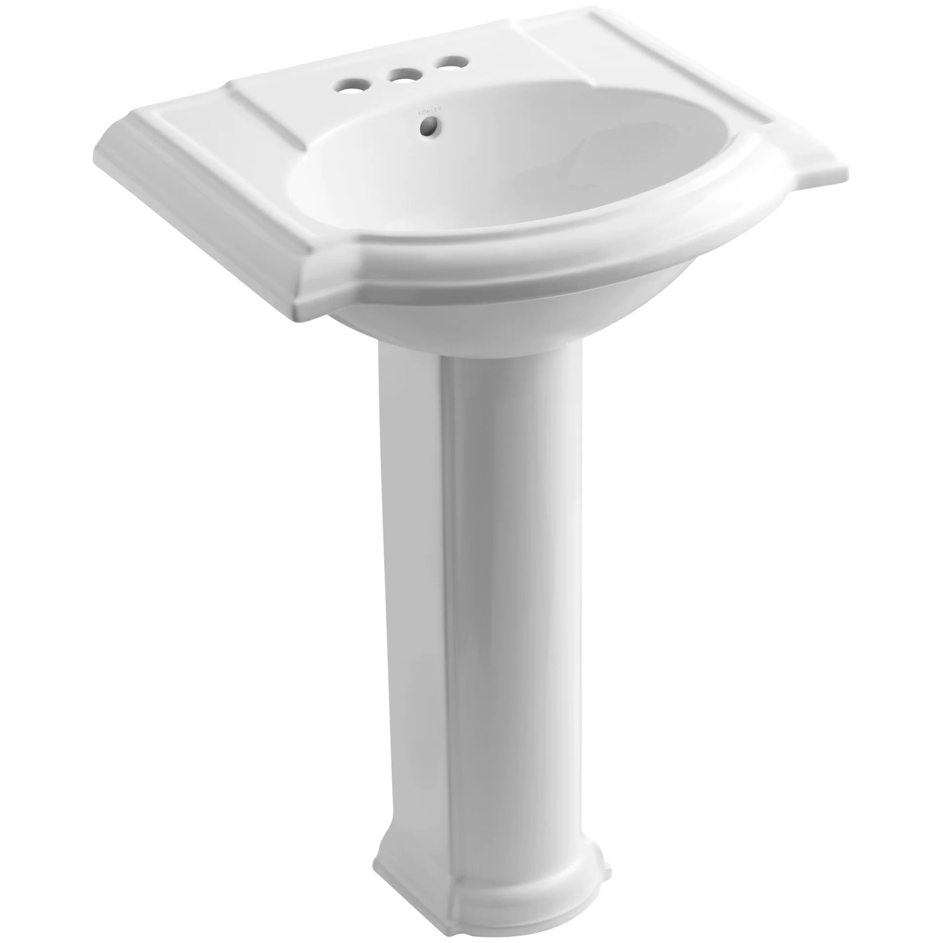 Industrial Pedestal Sink Kohler Devonshire 24 Quot Pedestal Bathroom Sink And Reviews