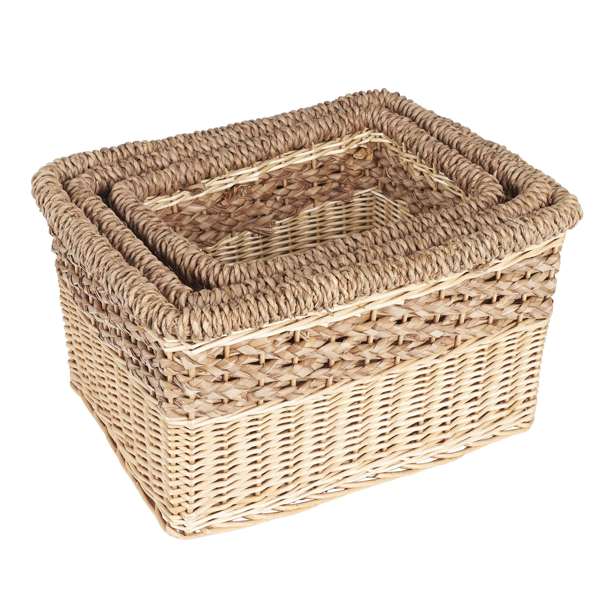 Fancy Baskets Household Essentials 3 Piece Starling Decorative Storage